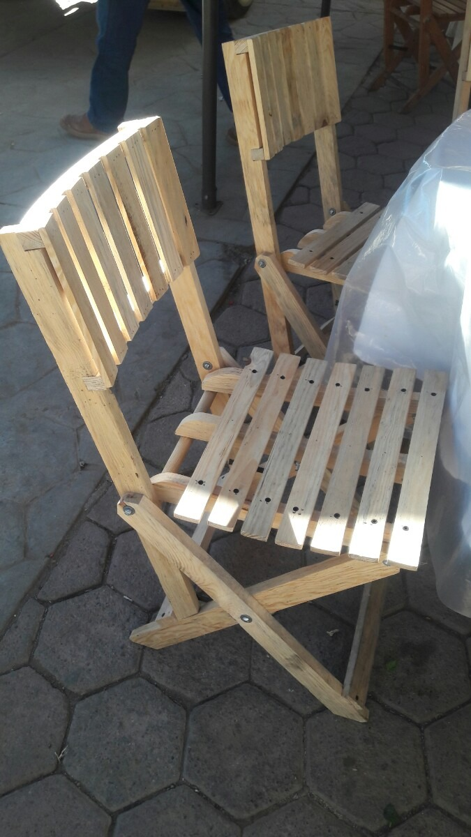 4 sillas de madera plegables super reforzadas para - Sillas de madera plegables ...