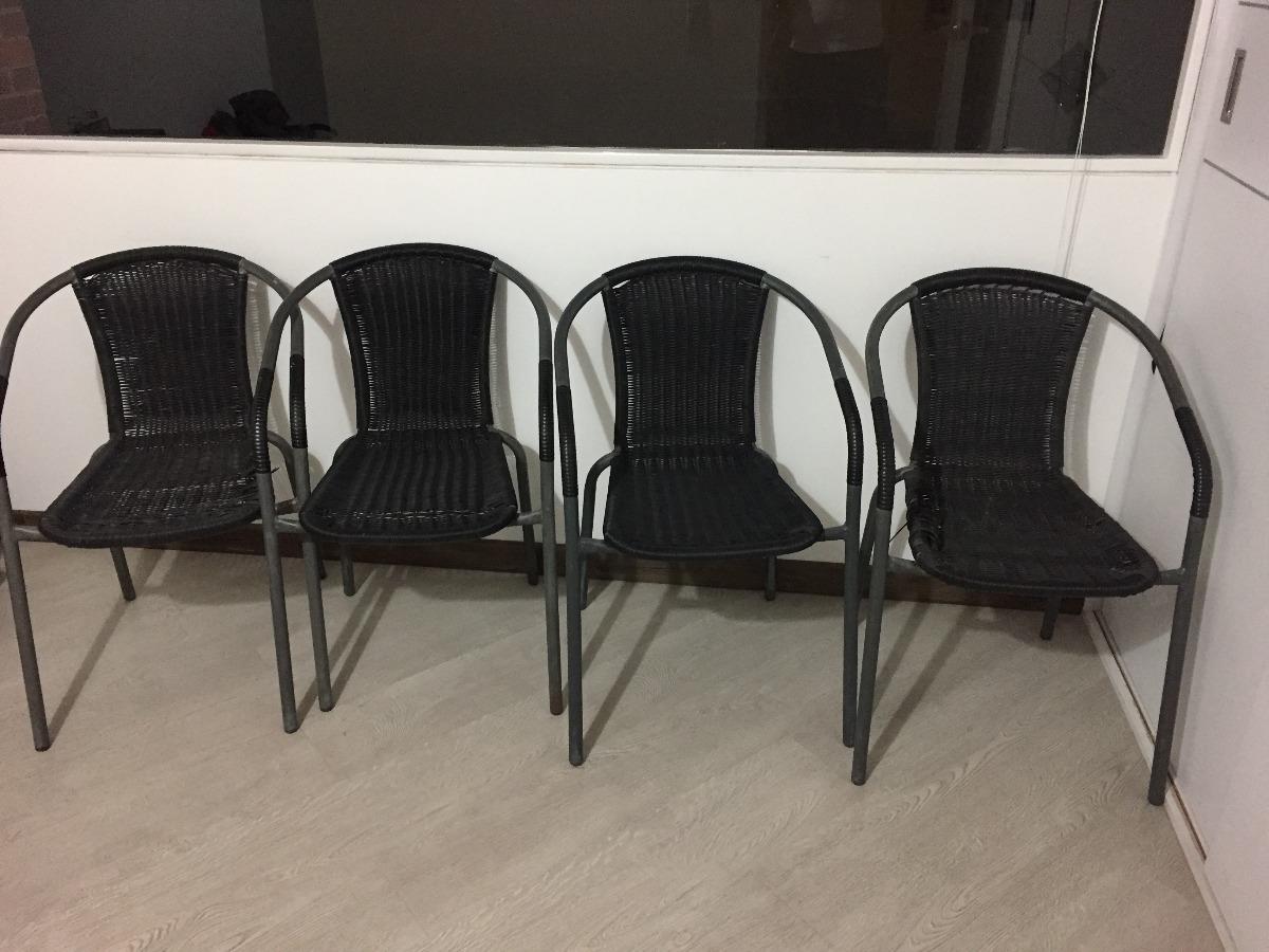 4 Sillas De Patio O Terraza Mimbre Para Comedor Metaliks - $ 119.000 ...