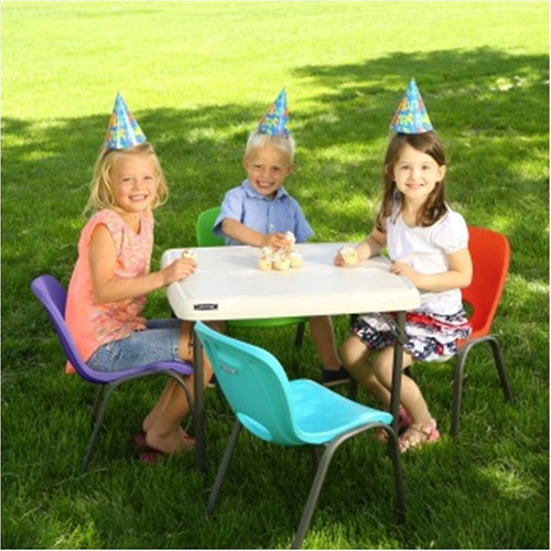 4 sillas lifetime sillitas niños jardin / sin mesa