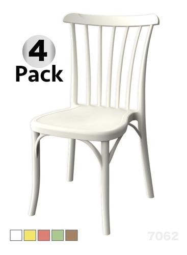 4 sillas plástico resistente restaurante barra eventos rio