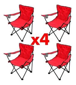 Playa 4 Azul Camping O Plegable Con Sillas Porta Para Vasos RL354jA