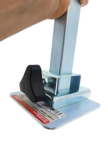 4 suporte de régua 30cm de aço azulejista pedreiro cortag