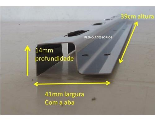4 suportes de espeto e grelha p/ churrasqueira de até 100cm