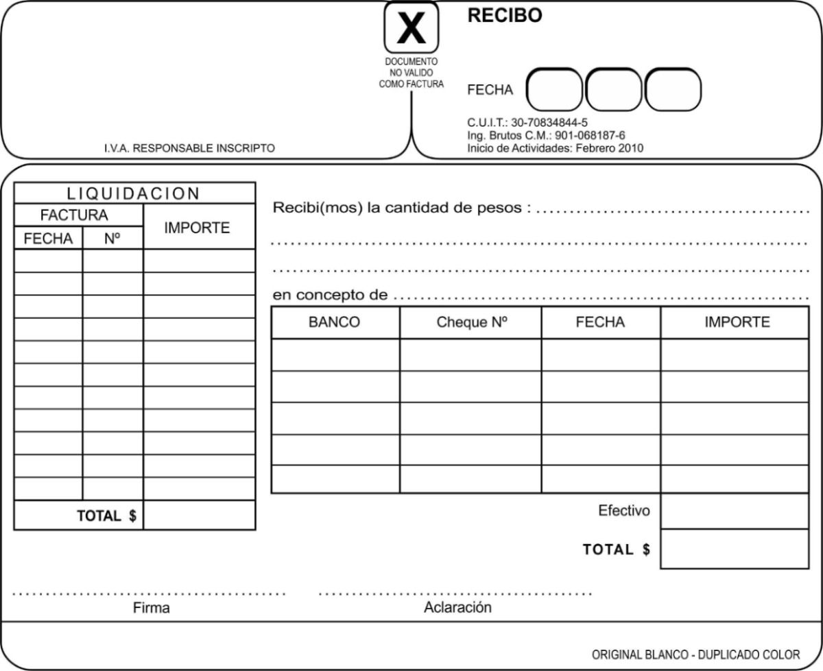 4 Talonario Factura  Recibo  Monotributo  Imprenta  Afip
