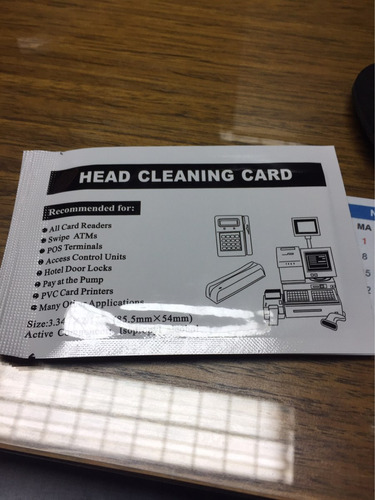 4 tarjetas limpiadoras cabezal rodillos máquina tarjetas