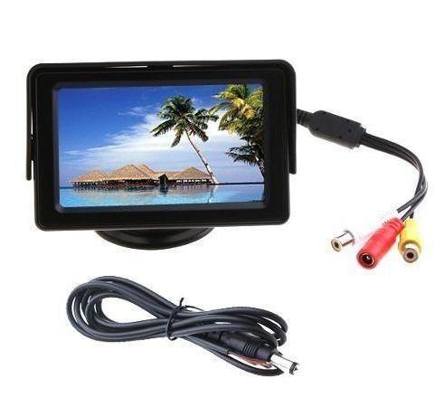 4 tela monitor automotivo lcd tft 4.3 carro camera de ré dv