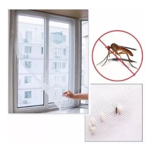 4 tela mosquiteiro fita para janela ou porta 130x150cm.