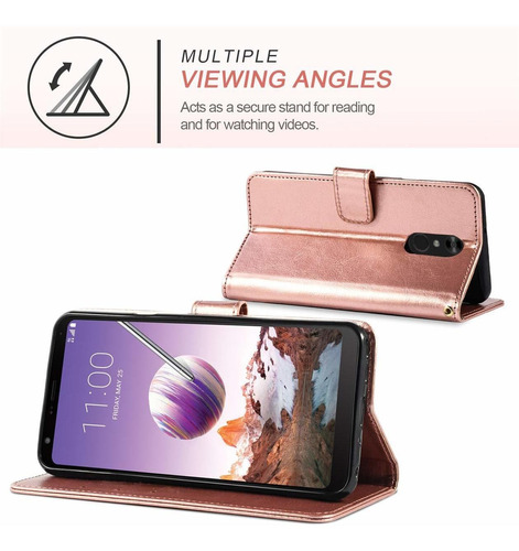 4 teléfono caja de carpeta lg stylo lg stylo 4 case plus co