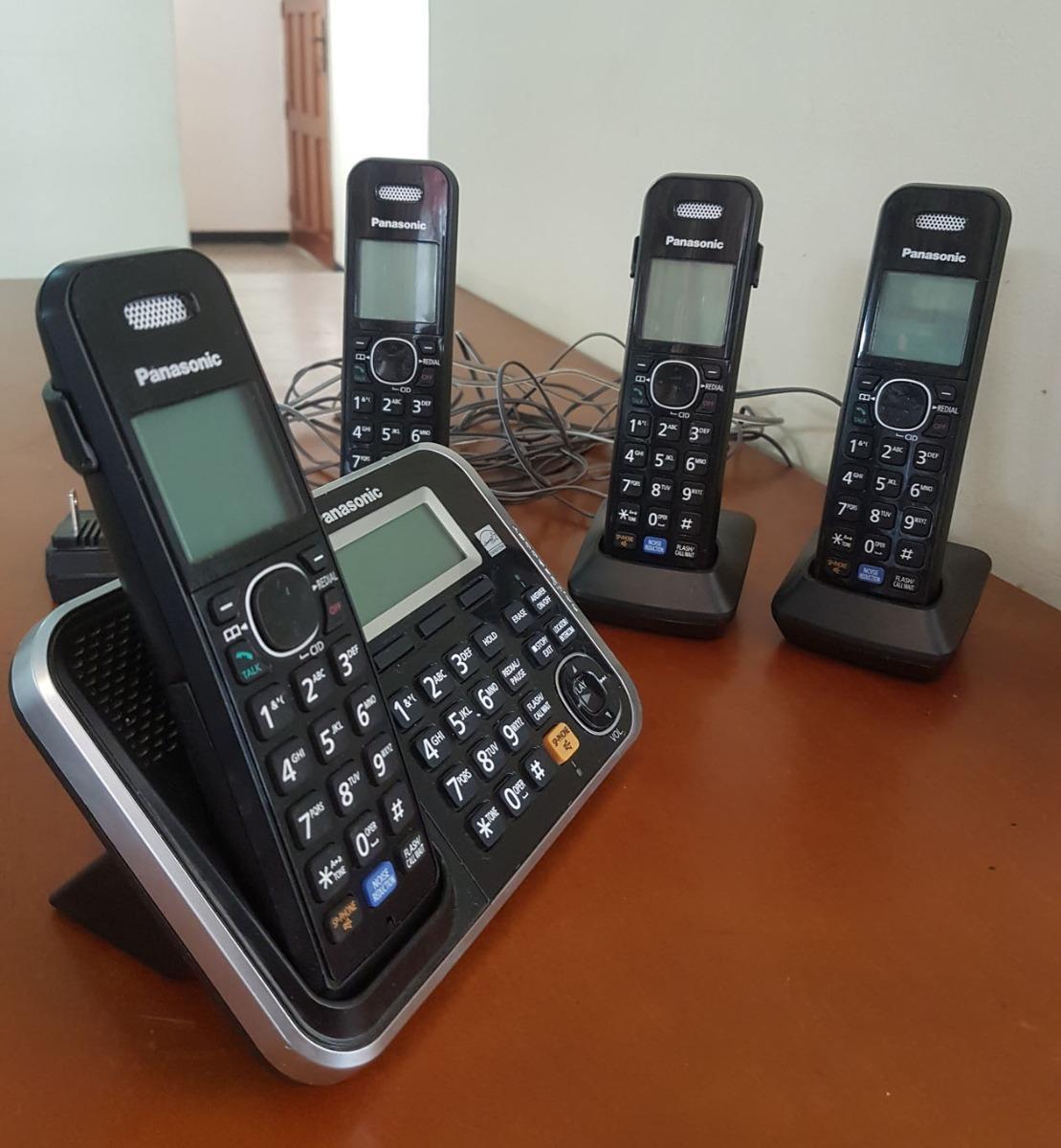 4 Telefonos Inalambricos Panasonic Kx-tg6841 + Contestadora - Bs  49 500,00