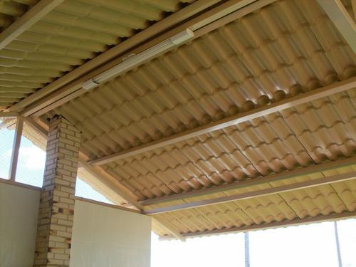 4 - telha pvc colonial ecológica - 2,30m x 0,88m + kit fix