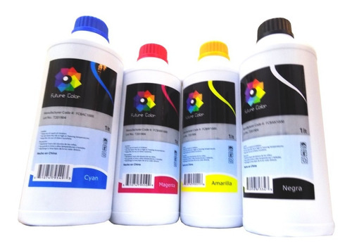 4 tinta litro uso  dye epson  hp brother canon 1 por color