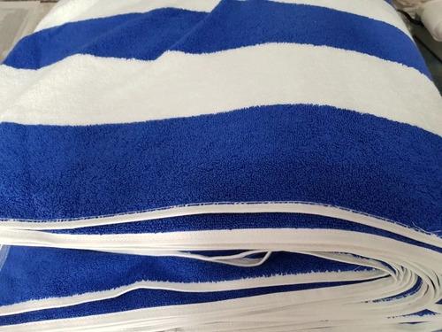 4 toallas alberca rayada playa hotelera 170x 90 700gr hotel