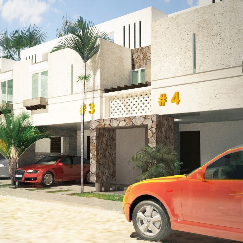 4 townhouses en venta, en rincón turquesa chicxulub.