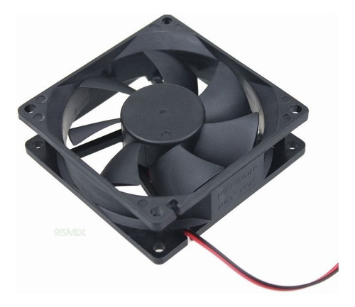 4 undades ventilador fan case 8cms x8cms x2.5cms 12v dc pc