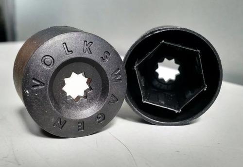 4 unidades capa parafuso roda original / genuína volkswagen