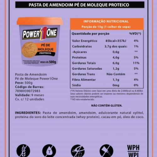 4 unidades de pasta de amendoim - pe de moleque
