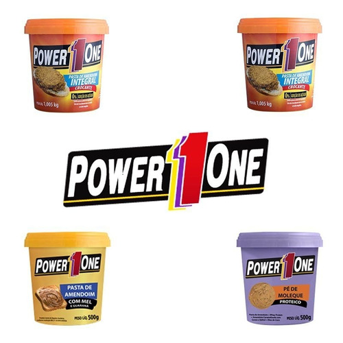 4 unidades - pasta de amendoim - power 1 one