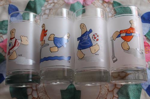 4 vasos coca cola juegos olimpicos atenas 2004  nuevos