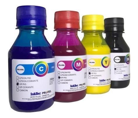 4 x 100ml tinta pigmentada inktec hp pro 7612 8600 8610 8620