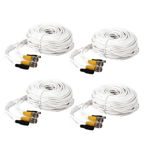 4 x 150 pies video cable seguridad cámara bnc cable cable de