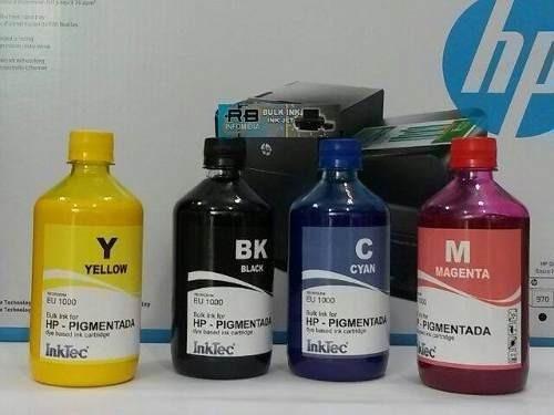 4 x 500ml  tintas pigmentada hp inktec 8100 8600 8610 7612