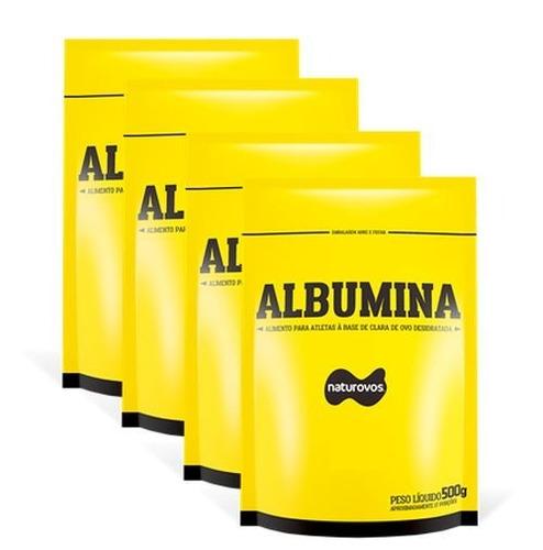 4 x albumina 500g natural naturovo (somente natural)