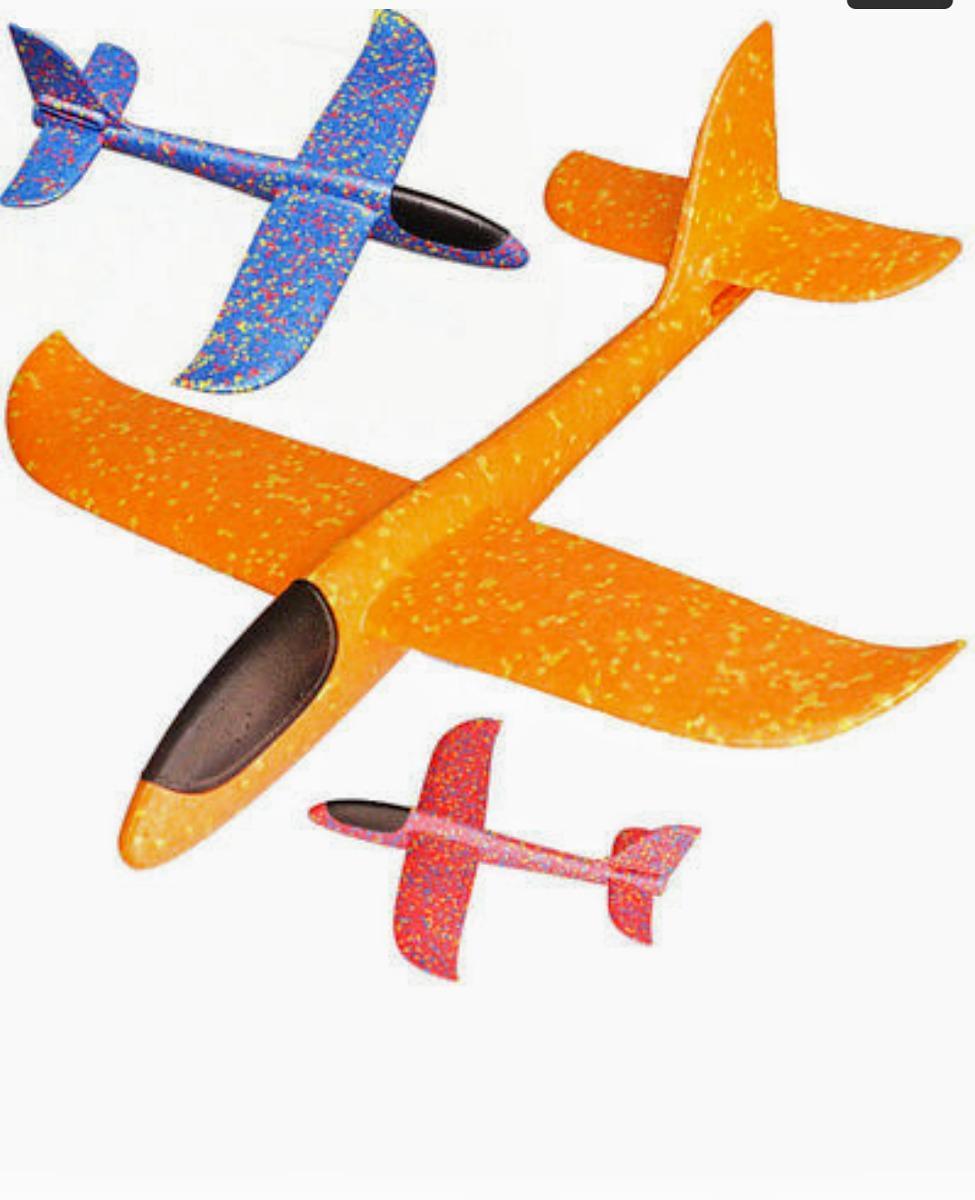 5fbb843a1a 4 X Avión Planeador Xl 48cms Vuela Aire Libre -   11.000 en Mercado ...