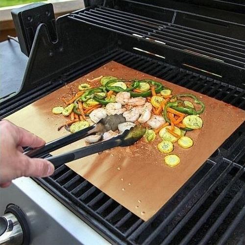 4 x bbq grill mat reutilizable estera antihaderente parrilla