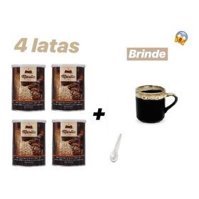4 X Café Marita 3.0 Emagreça Com Café + Colher + 1 Xicara