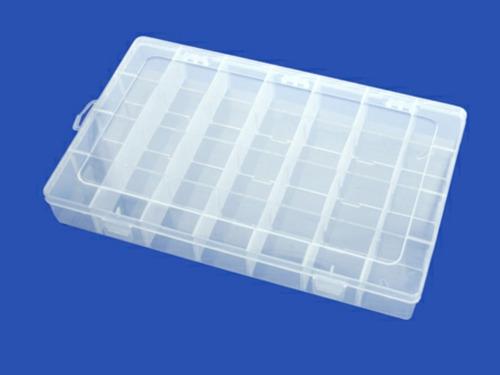 4 x caja transparente organizador con tapa 2 tamaños