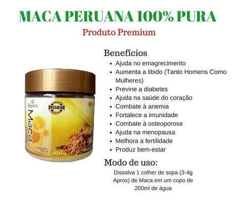 4 x maca peruana bioprim premium 100g pote preço imperdível