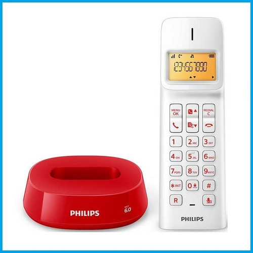 4 x telefono inalambrico philips d1401 caller id expandible