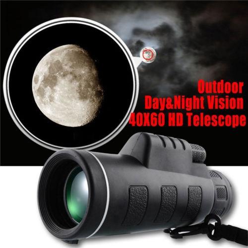 40 * 60 altura multiplicando hd óptico monocular telescopio