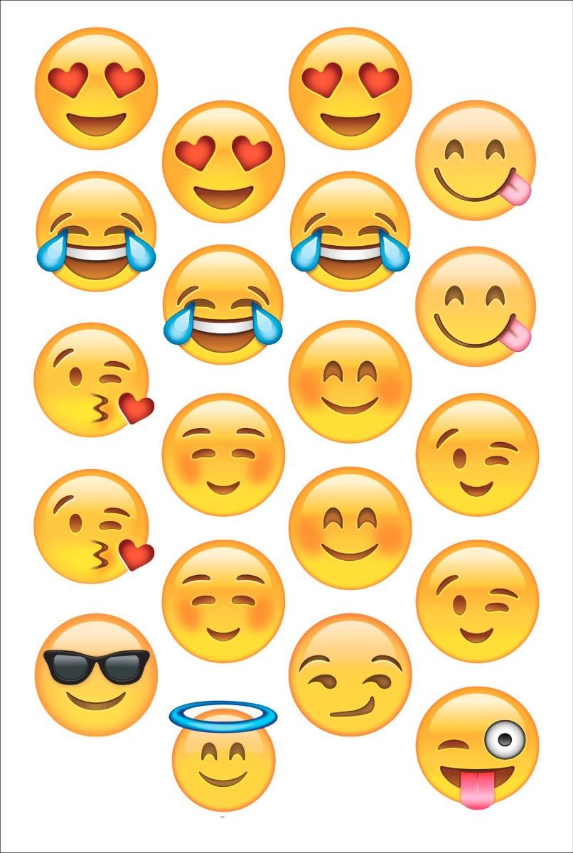 Adesivo De Unha Emoji ~ 40 Adesivos 5cm Emojis Emoticons Whatsapp Impress u00e3o Laser R$ 15,99 em Mercado Livre