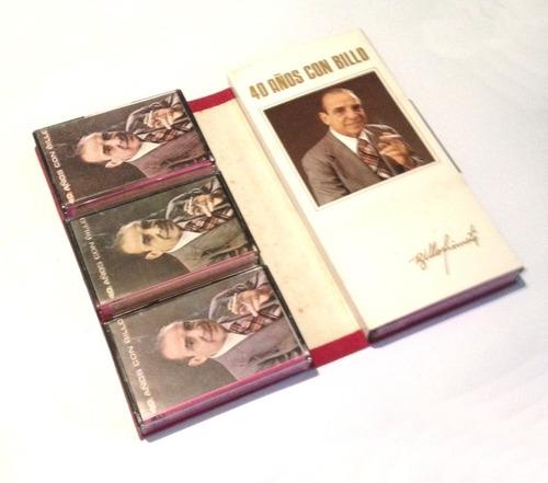 40 años con billo edición colección 6 cassetes *10v* myp