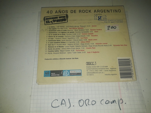40 anos de rock argentino vol 1