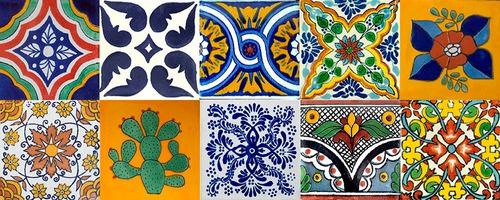 40 azulejos de talavera mixtos 15x15