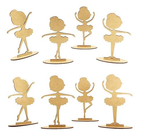40 bailarina infantil mdf crú lembrancinha enfeite mesa r68