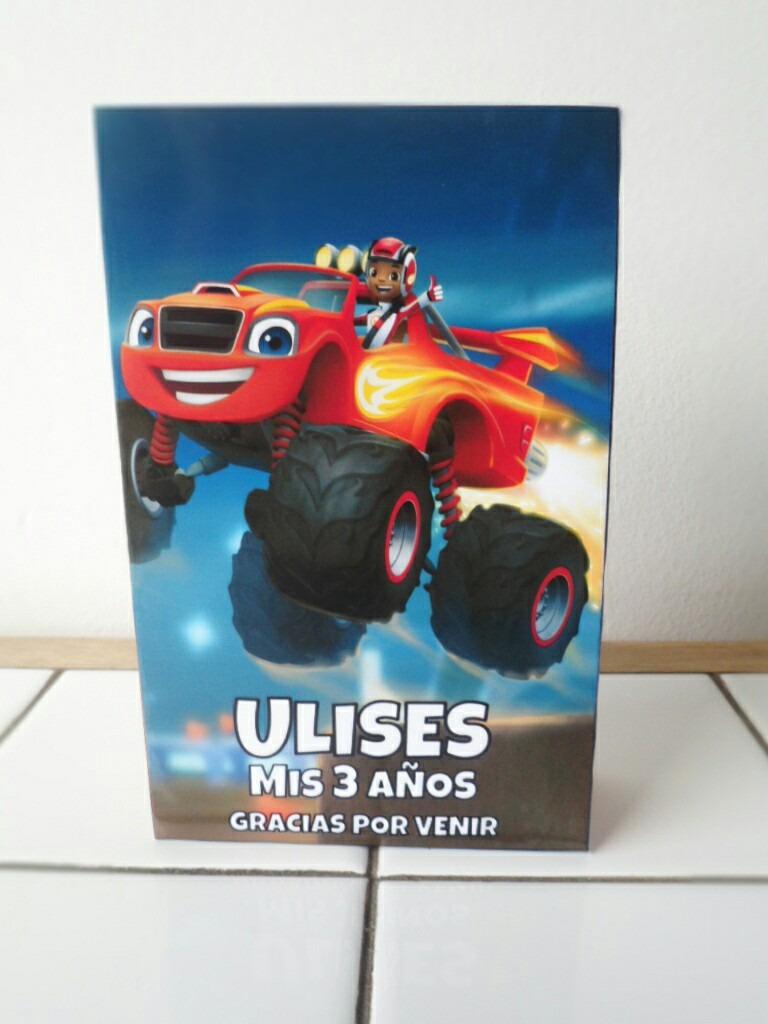 40 Bolsitas Y 40 Libritos Colorear Blaze Y Monster Trucks - $ 1.000 ...