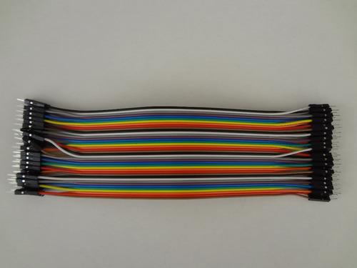 40 cabos jumper para protoboard macho-macho 20cm