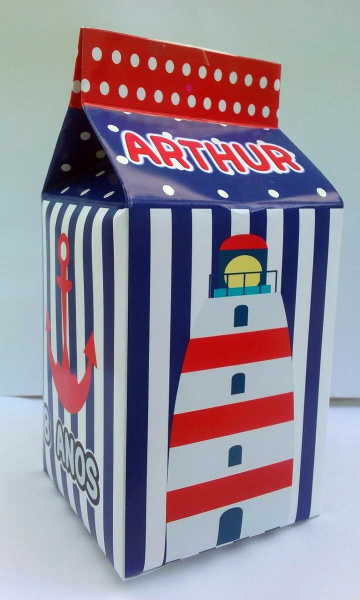 6a6613815e 40 caixa milk leite personalizada ursinho marinheiro. Carregando zoom.