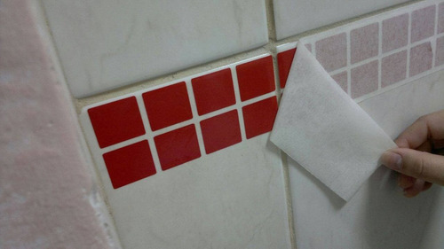 40 cartelas de adesivo pastilhas faixas azulejo frete gratis
