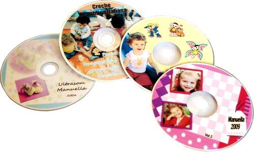 40 cds/dvds personalizados com box slim+encarte frete gratis