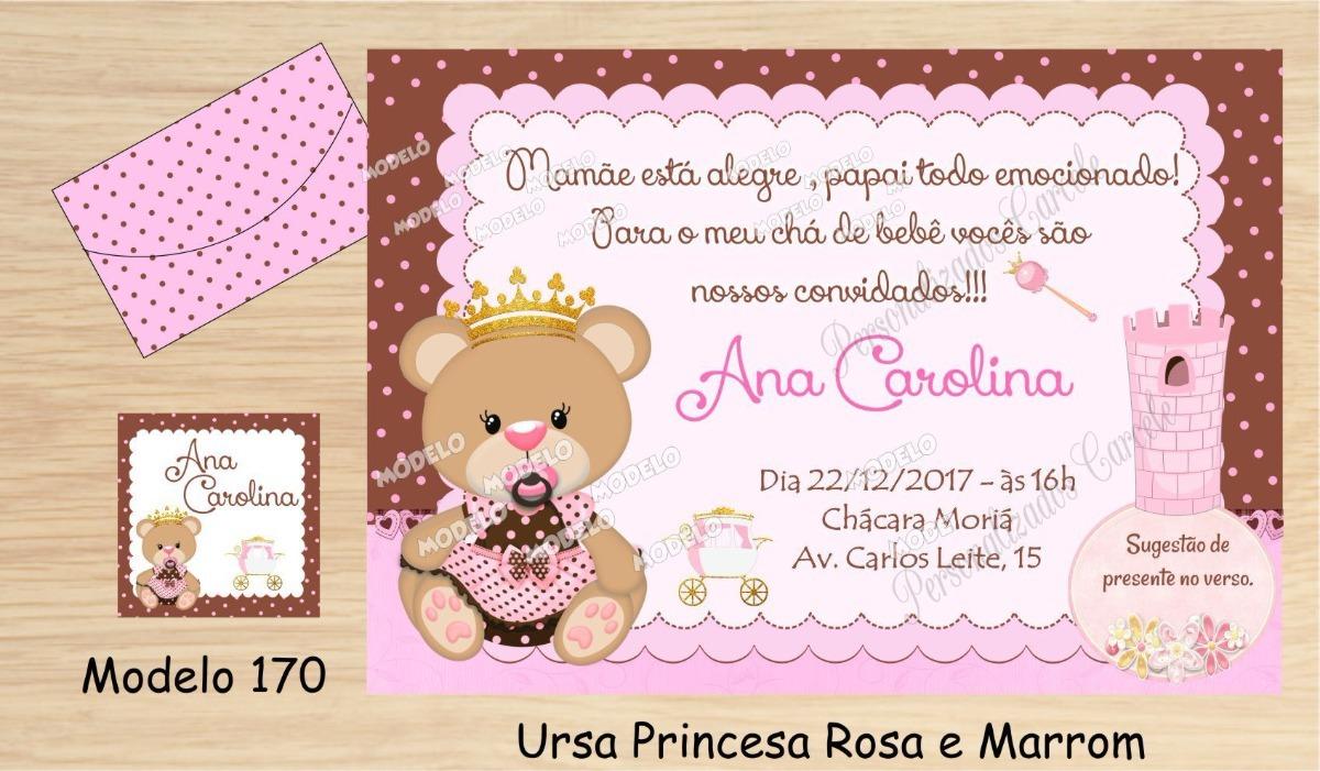 40 Convite Chá De Bebê Chá De Fralda R 3700 Em Mercado Livre