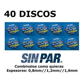 40 Discos De Corte Metal Para Amoladora 115 X 0.8  1.2  1.6