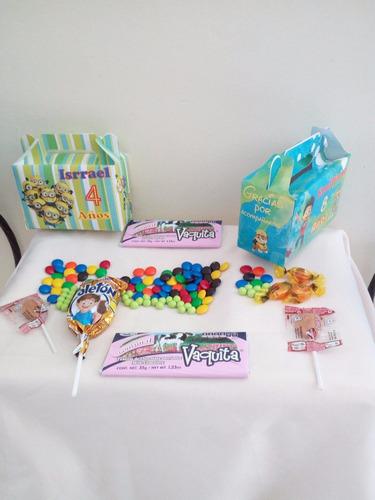 40 dulceros cajitas para palomitas personalizadas