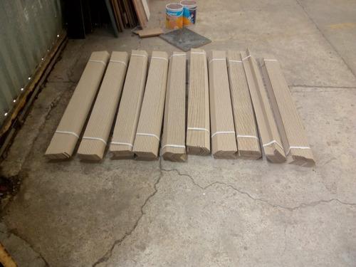 40 esquineros de cartón 2 x 2 x 120 puntos x 1.20 metros.