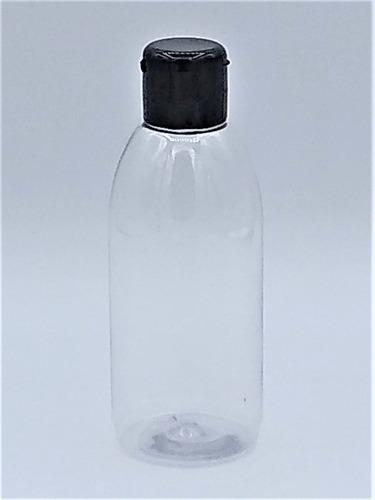 40 frasco pet 100ml para álcool gel tampa flip top