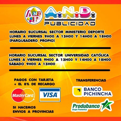 40 imanes / imantados publicitarios full color promocional
