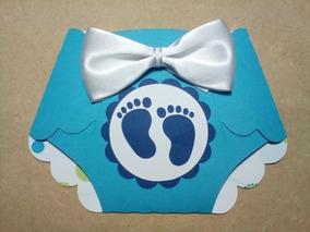 150 Invitaciónes Pañal Baby Shower Niña Niño